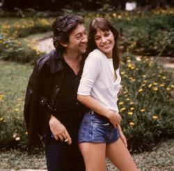 With Serge Gainsbourg.