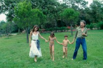 Serge Gainsbourg and Jane Birkin with family
