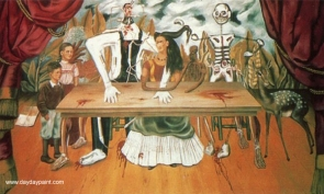 Frida-Kahlo-The-Wounded-Table